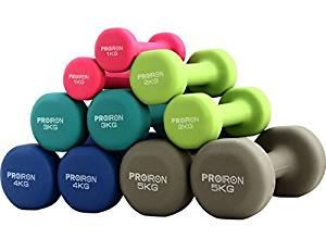 set di pesi per allenarsi a casa