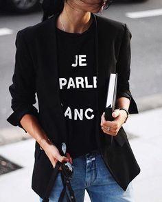 Blazer e T-shirt