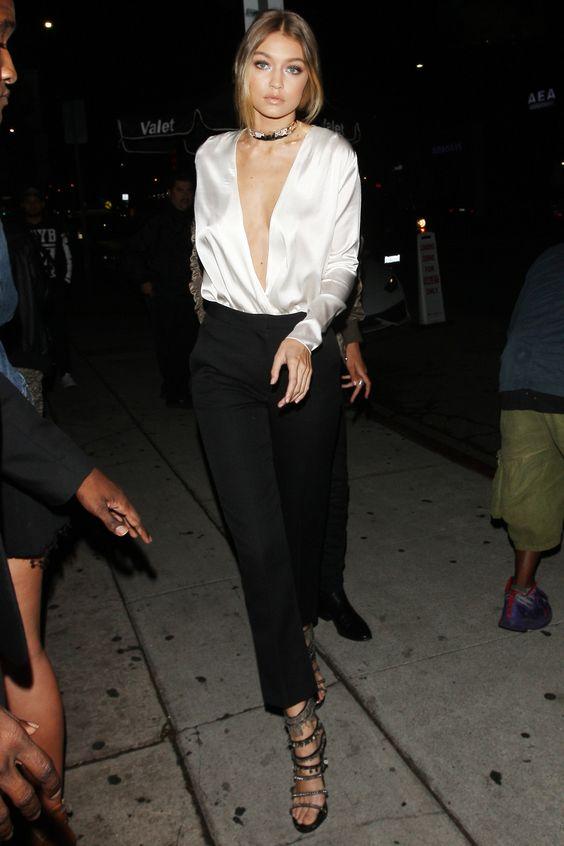 Camicia bianca seta per la sera: outfit