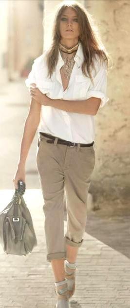 Camicia bianca outfit estivo