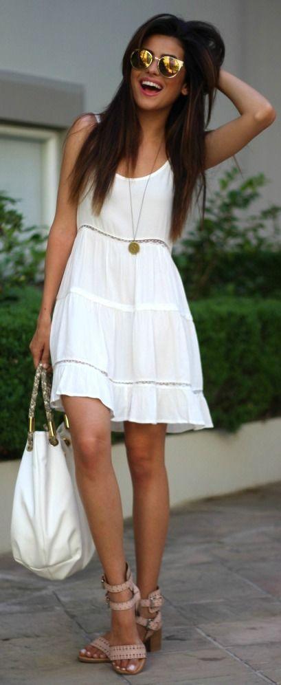 prendisole bianco moda estate