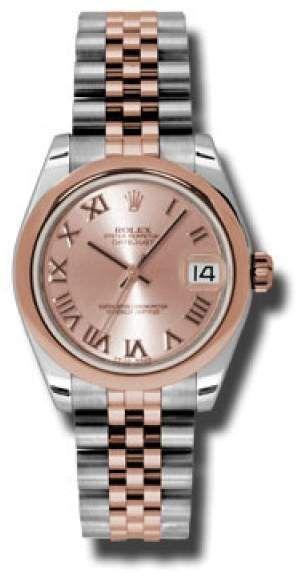 Rolex acciaio e oro rosa donna