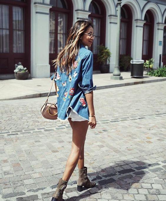 jeans a fiori