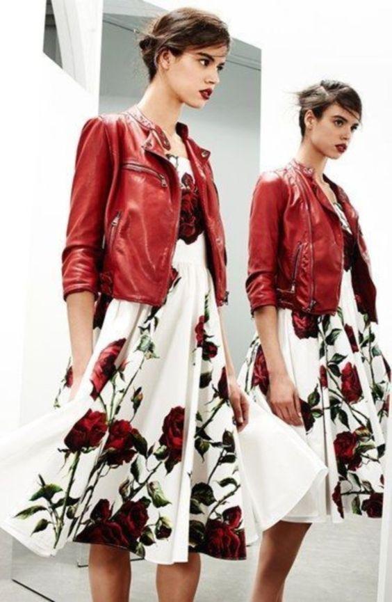 vestito lungo bianco a fiori