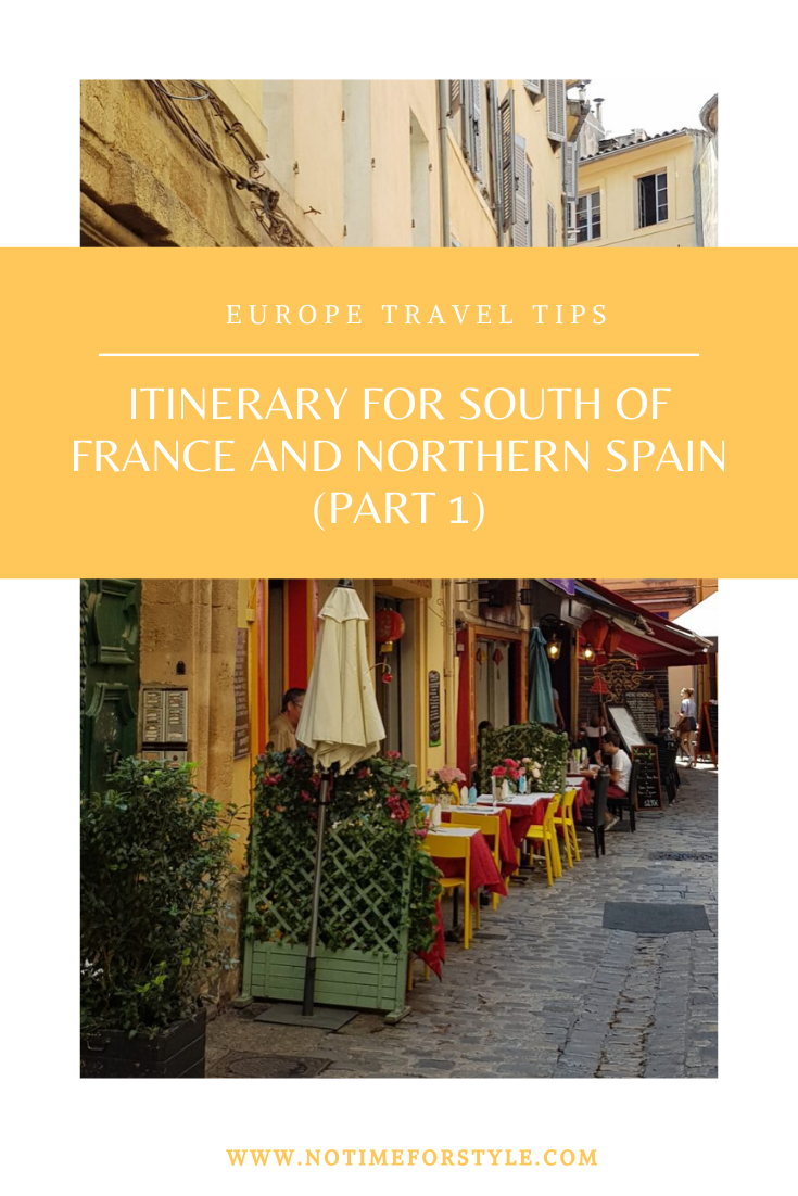 Best itinerary for South of France