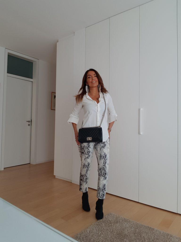 pantaloni pitonati