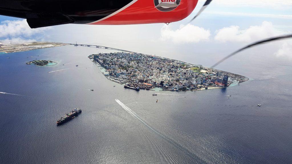 La capitale delle Maldie, Malé, vista dall'alto