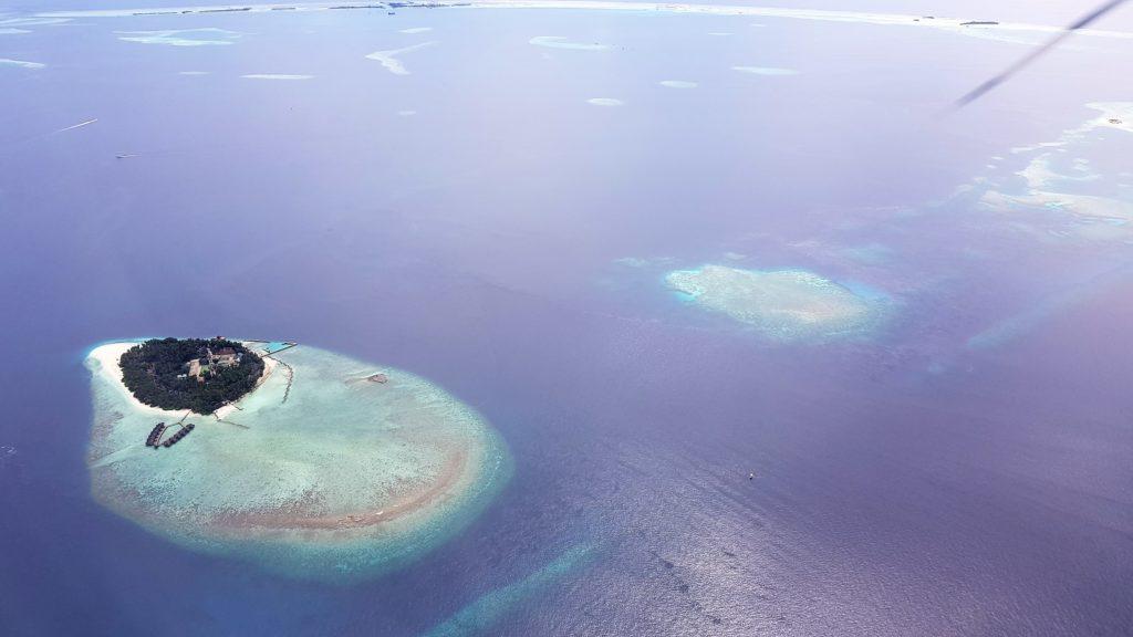Maldive viste dall'idrovolante