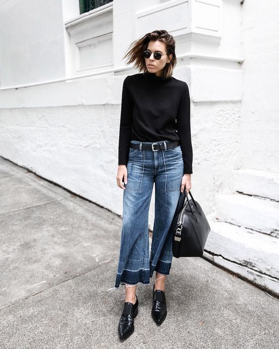 jeans cropped flare, moda jeans autunno inverno 2019 2020