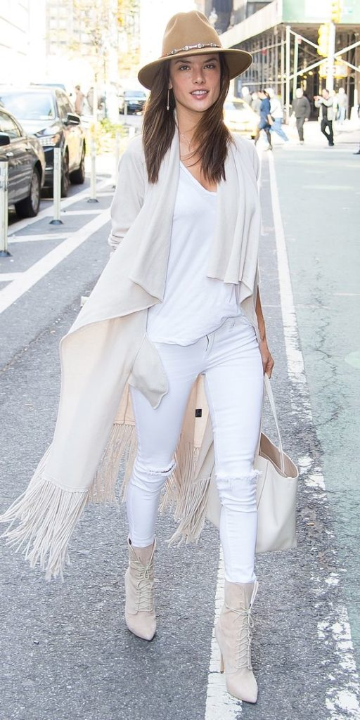 Total white - how to wear white in the winter