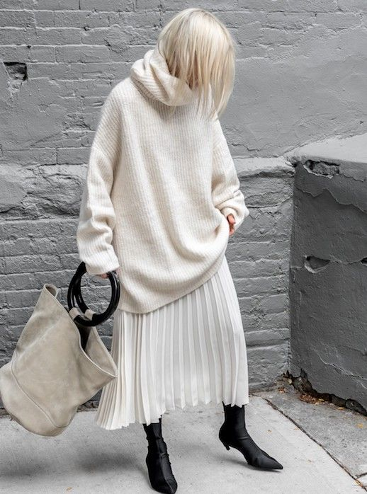 White outfit with black details