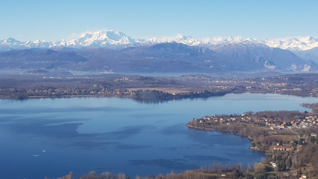 Lake Varese and the Monte Rosa massif