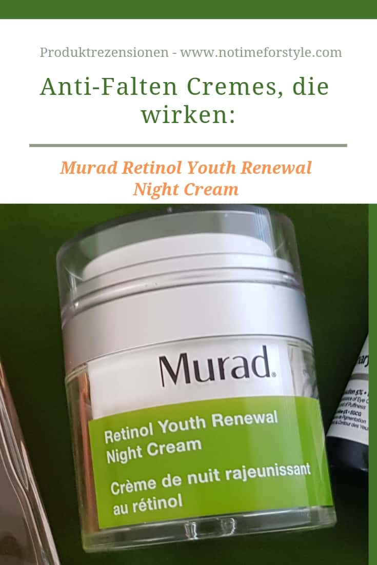 Anti-Falten Cremes die wirken: Produktrezension von Murad Retinol Youth Renewal Night Cream