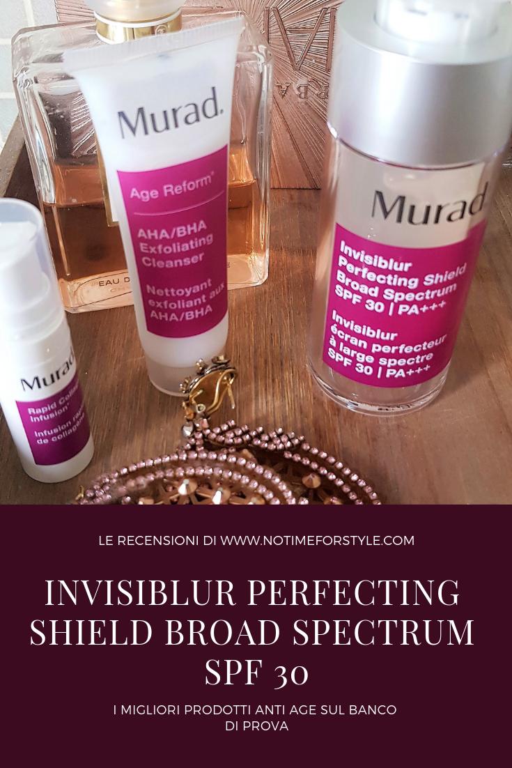 Invisiblur Perfecting Shield e altri prodotti Murad