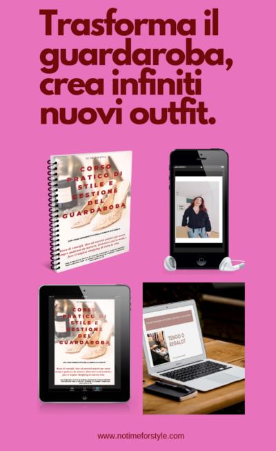 Il miglior corso di stile, decluttering e gestione del guardaroba ricco di strategie, consigli e giochi di moda per vestirsi bene con poco e trasformare il proprio guardaroba in una boutique di lusso