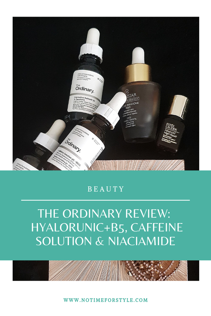 The Ordinary review: Hyaluronic + B5, Niaciamide, and Caffeine Solution