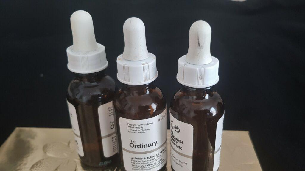 The Ordinary recensione dei tre migliori prodotti: Niaciamide, Hyaluronic * B5, Caffeine Solution