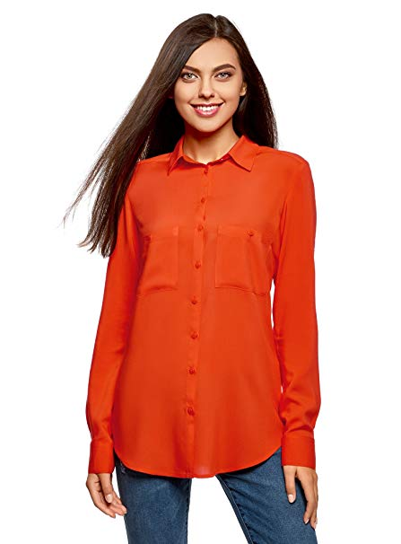 camicia arancione bellissima