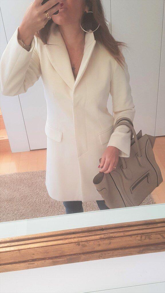 Cappotto bianco lana e cashmere Diffusione Tessile Intrend