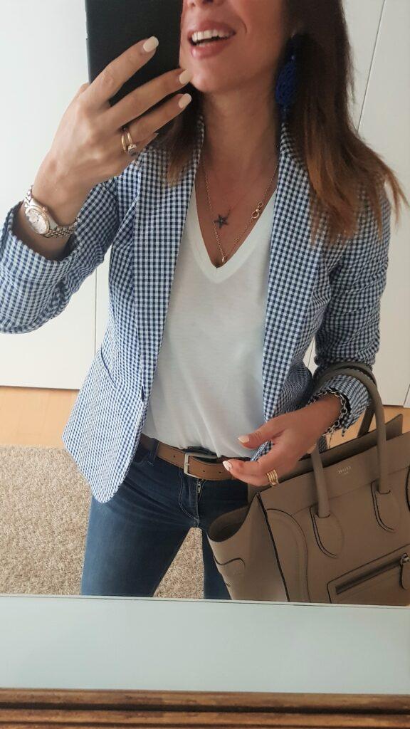 outfit estate bianco e blu