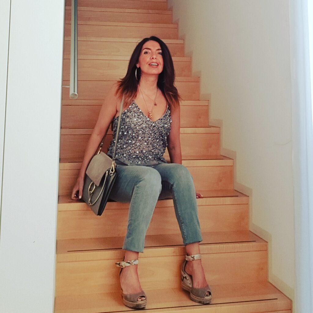 skinny jeans grigi Mango