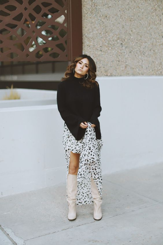Scarpe di moda 2019 2020 : outfit con slouchy boots o stivali a gambale morbido 2019 2020