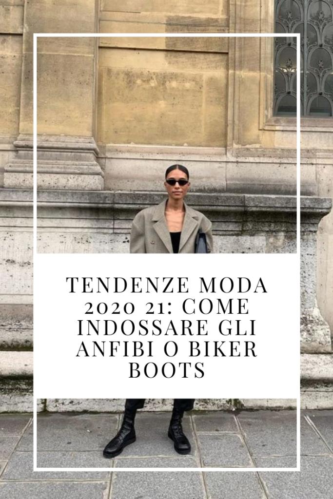Tendenze moda 2020 21: Come indossare gli anfibi o biker boots