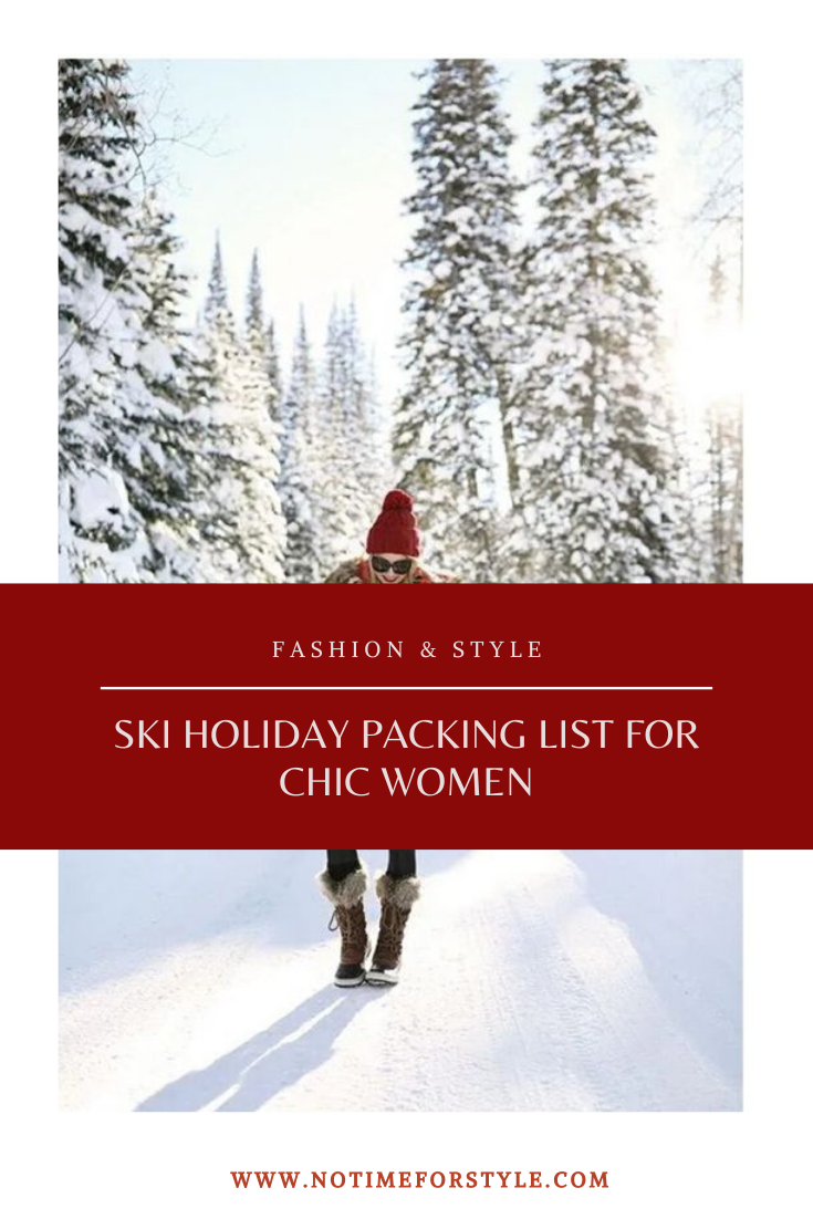 ski holiday packing list