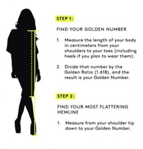 lunghezza giusta per una gonna o un vestito