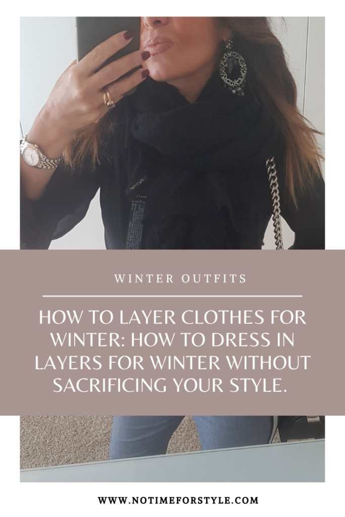 How to layer clothes for winter: how to dress in layers for winter without sacrificing your style. Best fashion tipps for women over 40.