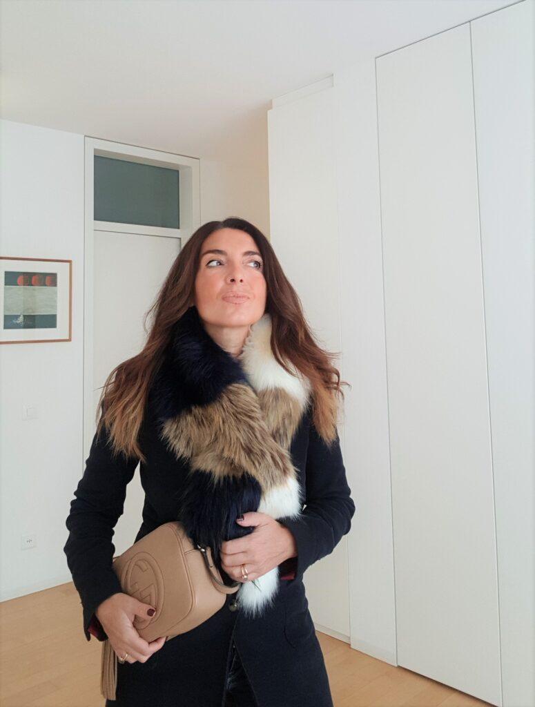 collo di pelliccia ecologica per cappotto
