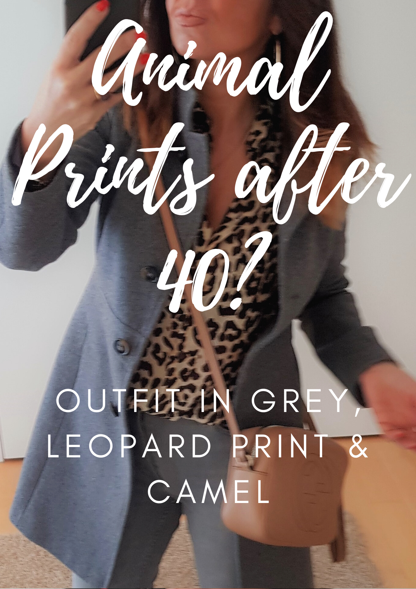 How to wear animal print over 40: Grey and leopard print