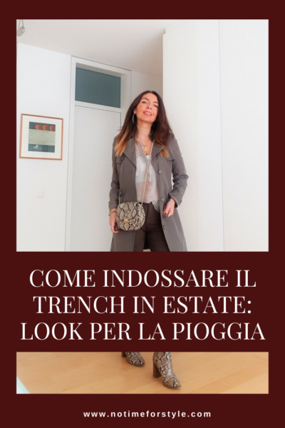 Come indossare il trench in estate: look per la pioggia