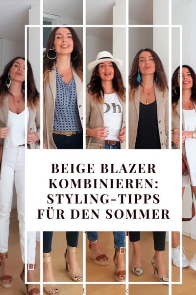 Beige Blazer kombinieren: Styling-Tipps für den Sommer