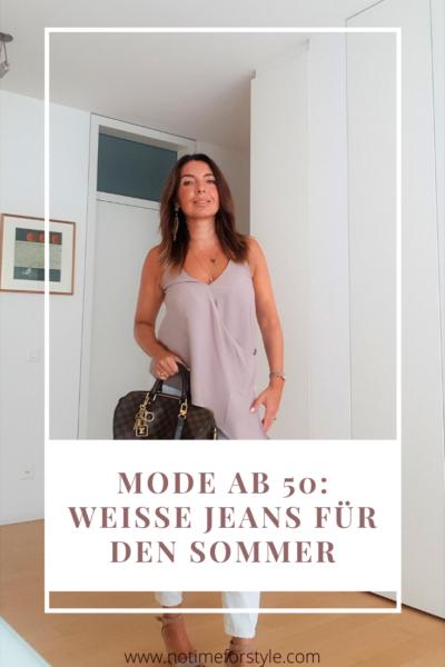 Wie kombiniert man eine weisse Jeans