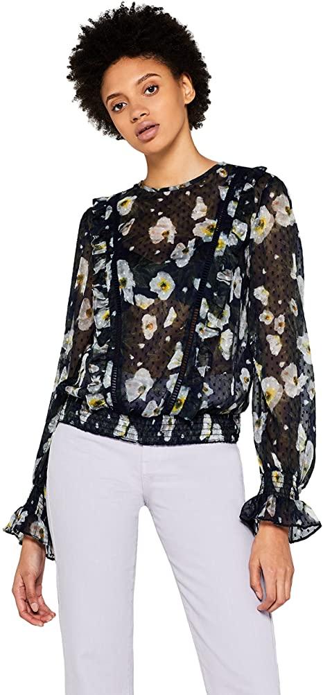 blusa con maniche a palloncino amazon