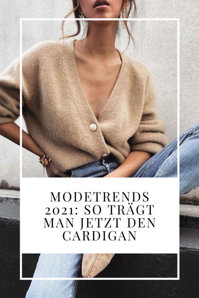Wie trägt man einen Cardigan?