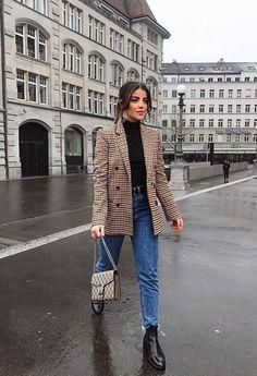 come abbinare un blazer , outfit con blazer a quadretti